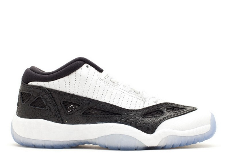 Air Jordan 11 Retro Low IE White Black 2011 GS 306006 100