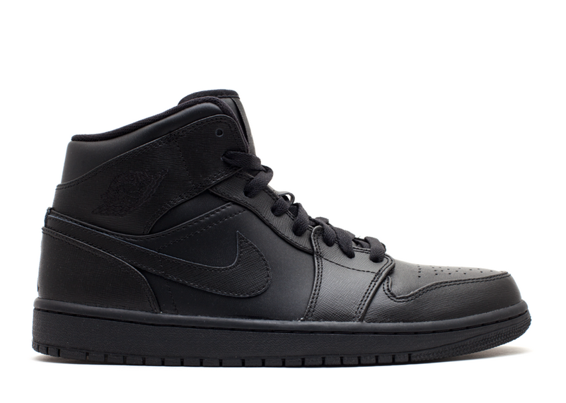 Air Jordan 1 Mid Black Men's 554724 010