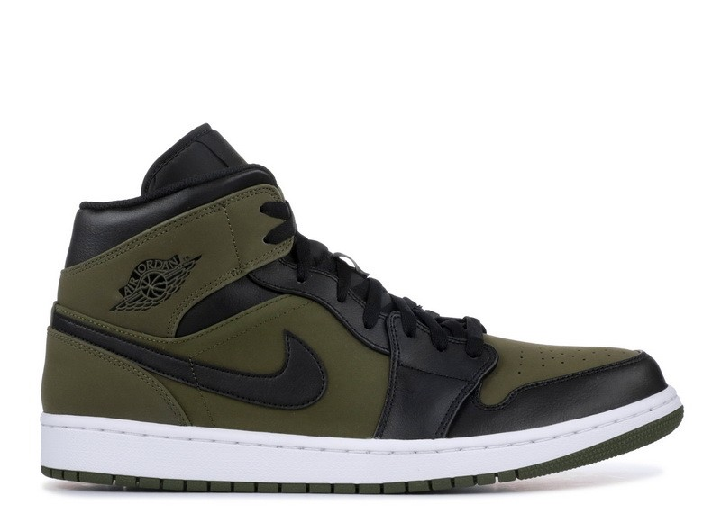 Air Jordan 1 Mid Olive Canvas 554724 301