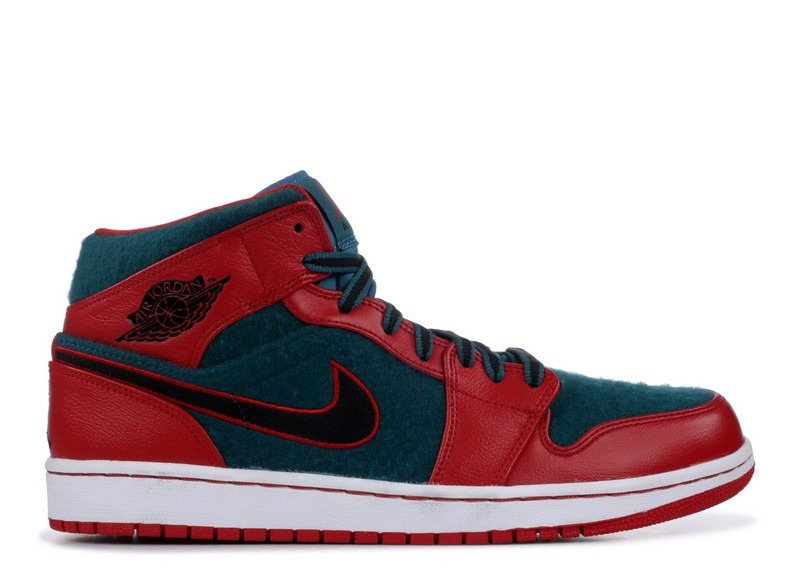 Air Jordan 1 Mid Gym Red 633206 608