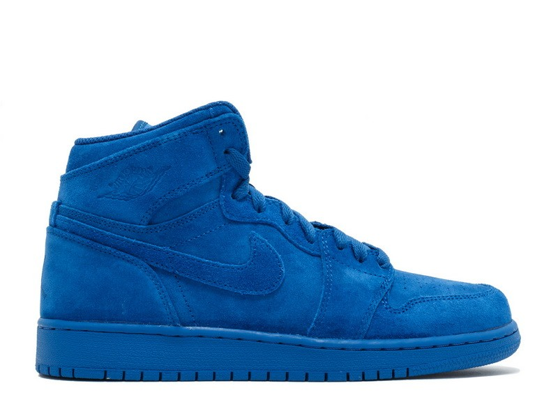 Air Jordan 1 Retro High Blue Suede Bg GS 705300 404