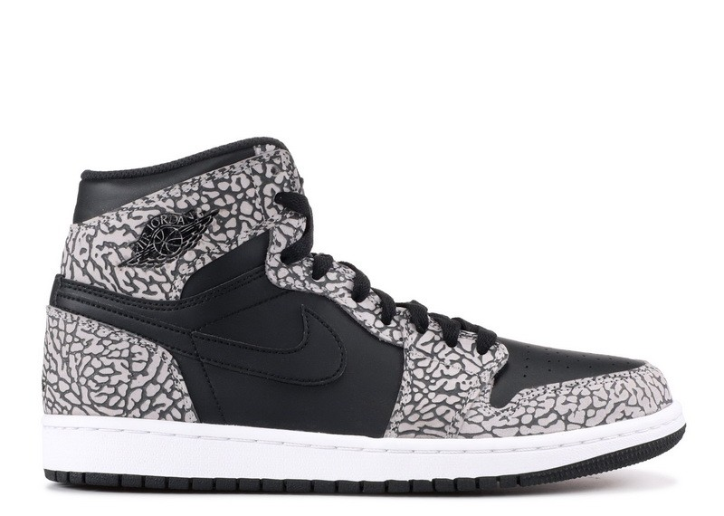 Air Jordan 1 Retro High Black Elephant Print 839115 013