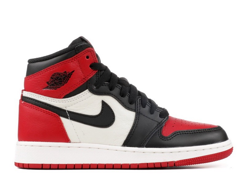 Air Jordan 1 Retro High OG Bred Toe GS Womens 575441 610