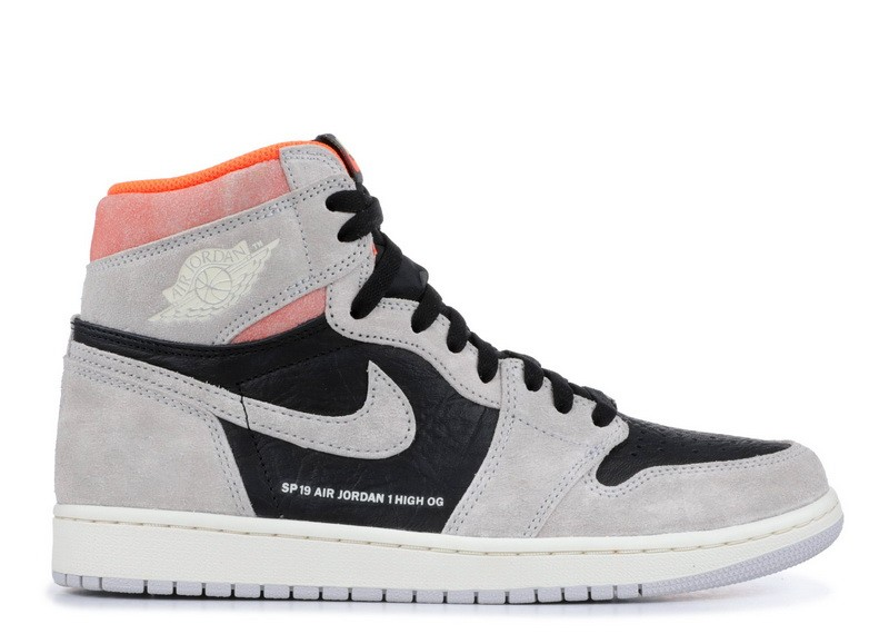 Cheap Online Air Jordan 1 Retro High Og Grey Crimson 555088 018