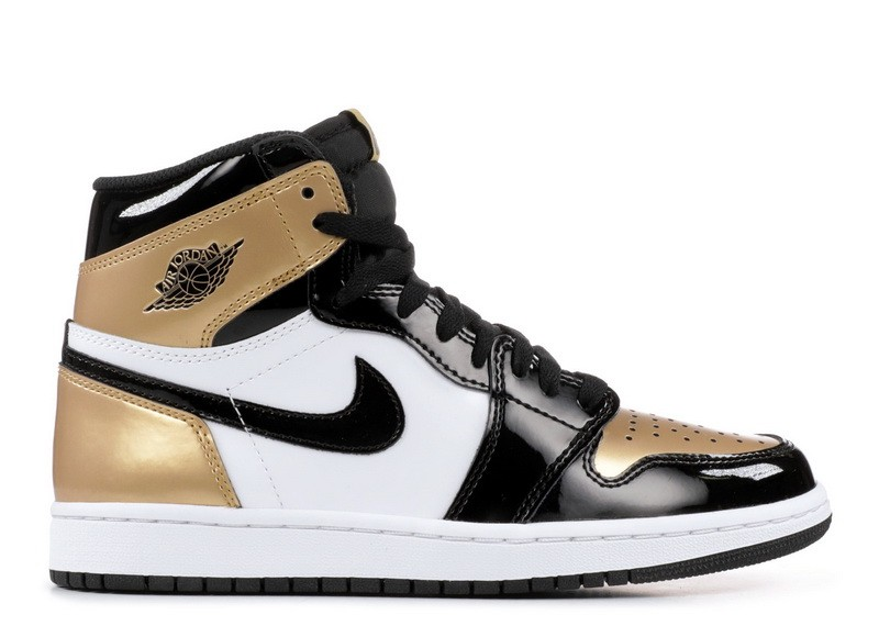 Air Jordan 1 Retro High OG Nrg Gold Toe 861428 007