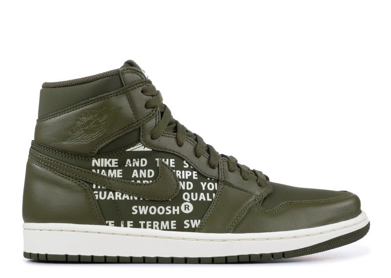 Air Jordan 1 Retro High Og Olive Canvas 555088 300