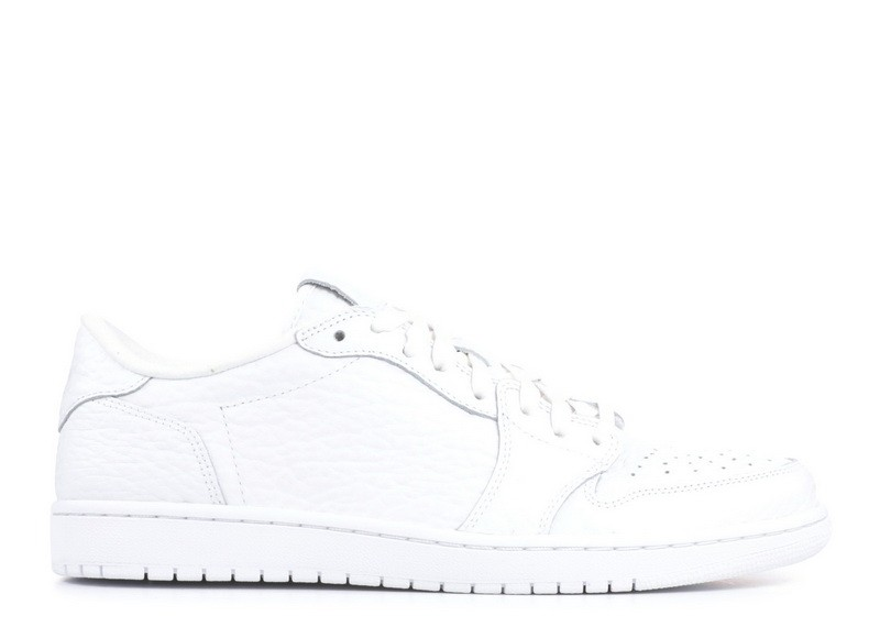 Air Jordan 1 Retro Low Swooshless White 872782 100