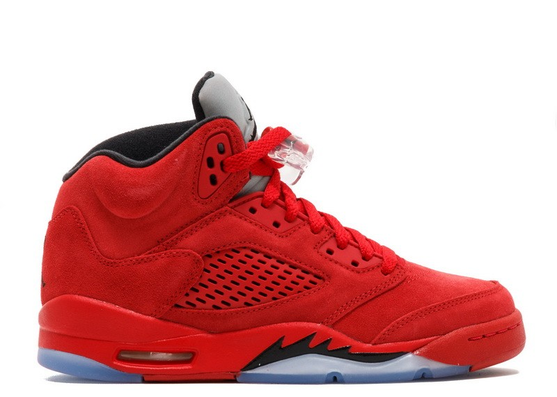 Air Jordan 5 Retro Red Suede GS Womens 440888 602