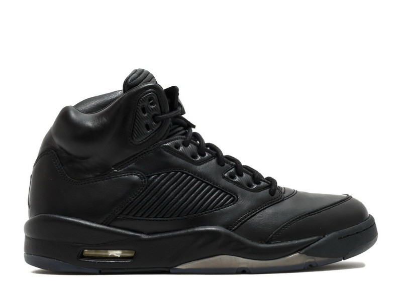 Air Jordan 5 Retro Prem Triple Black 881432 010 Hot Sale