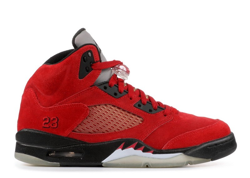 Air Jordan 5 Retro Raging Bull Red Suede 136027 601 Hot Sale