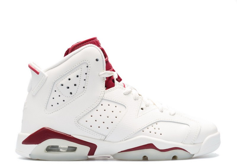 Air Jordan 6 Retro OG Maroon GS Women's 836342 115