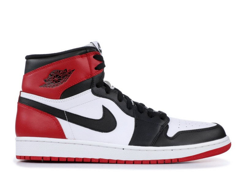 Air Jordan Retro 1 High Og Black Toe 555088 184