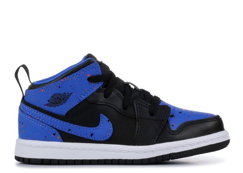 Air Jordan 1 Mid Royal Paint Splatter BT 640735 048 Sale Online