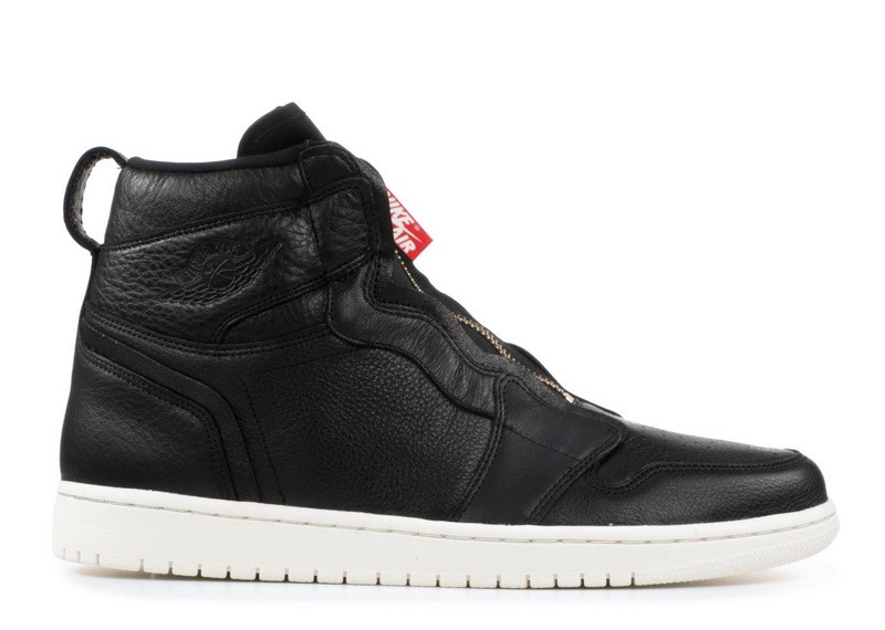 Air Jordan 1 High Zip Black Sail Wmns AQ3742 016