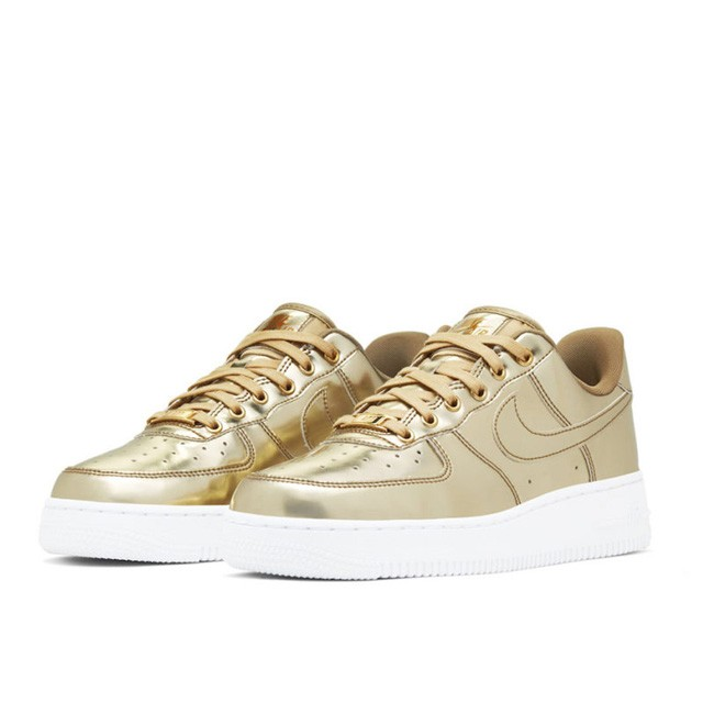 "Air Force 1 ""Liquid Metal"" Metallic Gold CQ6566-700"