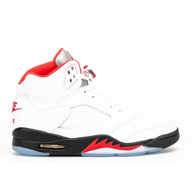 Air Jordan 5 Fire Red 2020 Silver Tongue DA1911-102