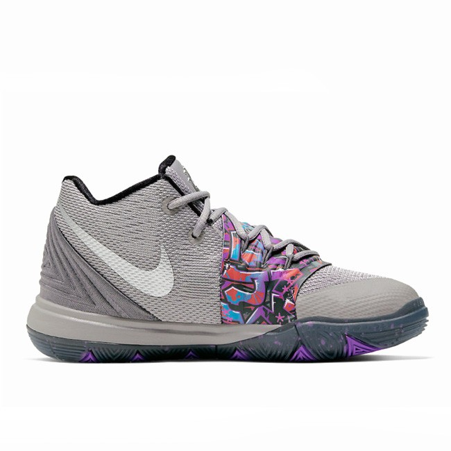 Graffiti Kyrie 5 GS Atmosphere Grey/Metallic Silver AQ2458-001