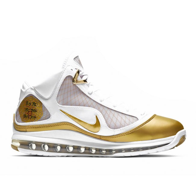 LeBron 7 China Moon White/Metallic Gold CU5646-100