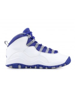 Air Jordan 10 Retro TXT White Old Royal Stealth GS Womens 487215 107