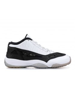 Air Jordan 11 Retro Low White Black Men's 306008 100