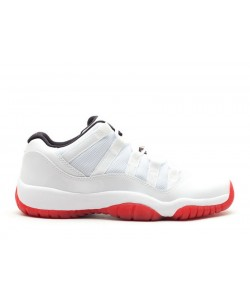 Air Jordan 11 Retro Low White Varsity Red GS 528896 101