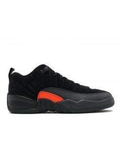 Air Jordan 12 Retro Low Black Max Orange BG GS 308305 003