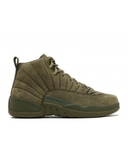 Air Jordan 12 Retro Psny Olive Green BOM745229