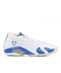 Air Jordan 14 Retro Low White Pacific Blue 312567 141