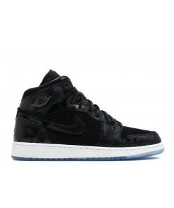 Air Jordan 1 Heiress Black Suede 832596 001