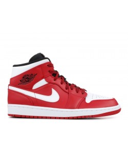 Air Jordan 1 Mid Chicago Gym Red 554724 605