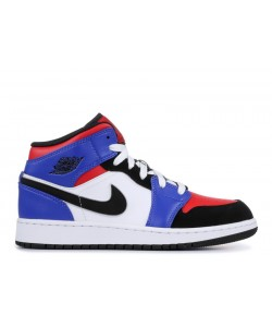 Air Jordan 1 Mid Gs Top 3 554725 124 Hot Sale