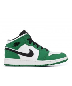 Air Jordan 1 Mid Se GS Pine Green bq6931 301