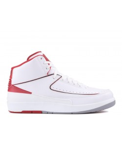 Air Jordan 2 Retro White Varsity Red 385475 102 Cheap Sale