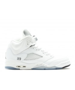 Air Jordan 5 Retro Metallic White GS Women's 440888 130