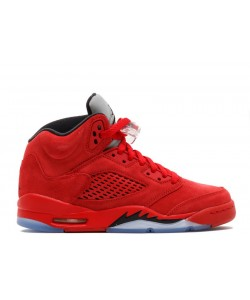 Air Jordan 5 Retro Bg gs Red Suede 440888 602