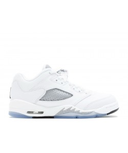 Air Jordan 5 Retro Low Gg GS White Wolf Grey 819172 122 For Sale