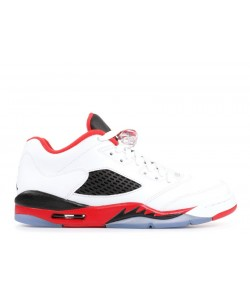 Air Jordan 5 Retro Low GS Fire Red 314338 101 For Sale
