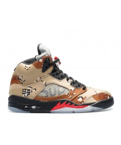 Air Jordan 5 Retro Supreme Desert Camo 824371 201 Sale Online