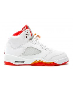 Air Jordan 5 Retro SUNSET FIRE RED GS 134092 161