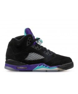 Air Jordan 5 Retro Black Grape GS Women's 440888 007