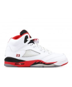 Air Jordan 5 Retro Fire Red Black Tongue GS 440888 120