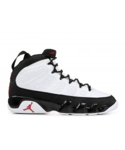 Air Jordan 9 Retro White Black Red 302370 101 Cheap Sale