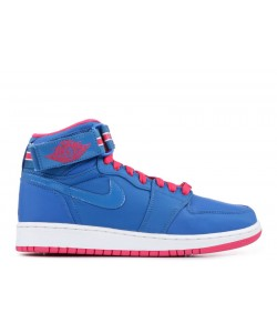 Air Jordan 1 Hi Strap Blue GS Women's 343184 441