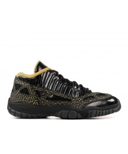 Womens Air Jordan 11 Retro Low IE Black Metallic Gold 316318 071
