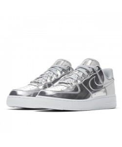 "Air Force 1 ""Liquid Metal"" Metallic Chrome CQ6566-001"