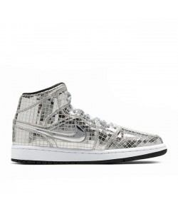 Air Jordan 1 Mid Disco Ball Metallic Silver CU9304-001
