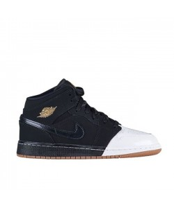 Air Jordan 1 MID GG Gold And Gum 555112 021 Sale Online