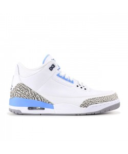 2020 Air Jordan 3 UNC White/Valor Blue CT8532-104