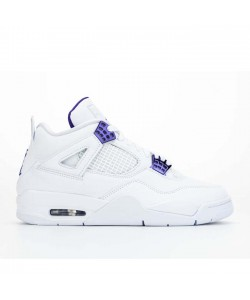 Air Jordan 4 Purple Metallic White CT8527-115 For Sale