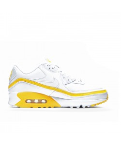 White Optic Yellow Undefeated x Air Max 90 CJ7197-101